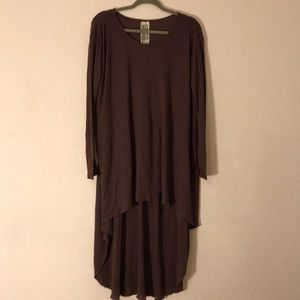 Simple brown high low dress by Free People
